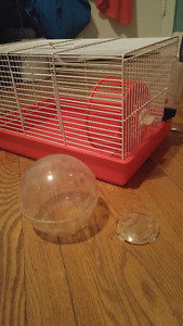 Red hamster cage in good shape