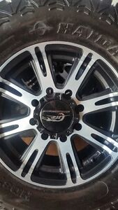 4 NEW AMERICAN RACING RIMS WITH HAIDA R/T TIRES LT35/12.5/18