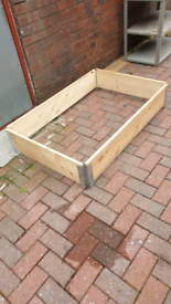 Raised flower bed frames as seen at b&q