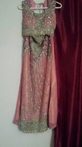 Pink and Green Indian Choli Suit for Charity