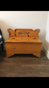 Wooden Welcome Bench