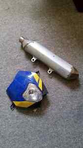 Husaberg headlight and muffler