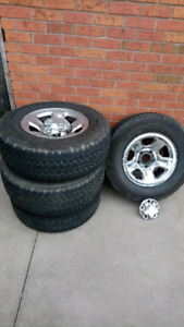 P265/70R17 light truck tires and rims for sale