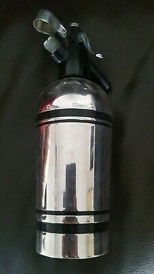 Vintage Sparklets soda siphon, stainless steel 18/10. made in England