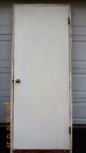 Solid Wood Door With Frame and Oak Sill
