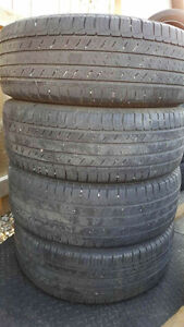 Cheap, affordable, slightly used tires .