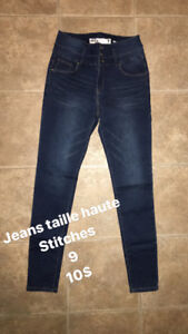 Jeans taille haute STITCHES