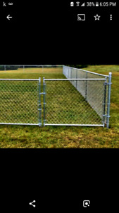 Chain link fence installs