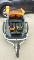 MEC double stroller with bike attachments