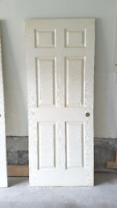 32 Inch door - LEFT handed - 6-Panel - for Interior and Closet