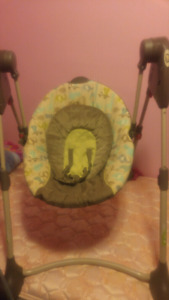 Baby swing works great son dosent like it runs on batteries