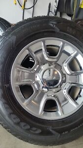 4 2015 GMC WHEELS WITH NEW GOODYEAR FORTITUDES 275/65/18