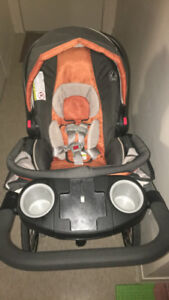 Garco Click Connect Jogging Stroller With Car Seat and Base