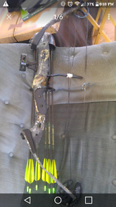 comes with arrows quiver relase arrow test and sights