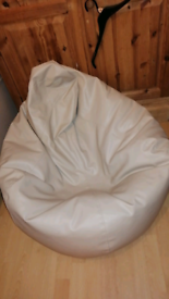 Large faux. Leather beanbag