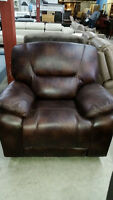 brown rocker recliner - delivery available