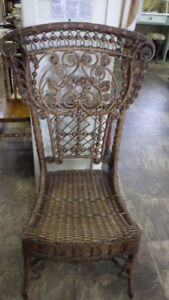 Superb Victorian Wicker Parlour Chair - perfect for your sunroom