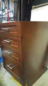 SOLID Mohogany upper and bank of drawers with soft-close rollers