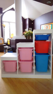 Ikea Trofast storage unit with bins