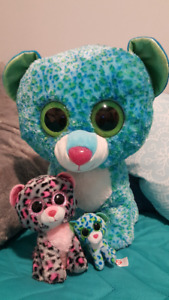 Large Beanie Boo with Small and mini