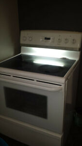 White Frigidaire stove with convection oven for sale