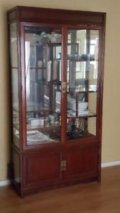 Rosewood Oriental Curio Cabinet