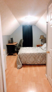 Large clean furnished room..