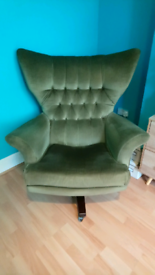 G-plan moss Green 6250 vintage iconic swivel chair