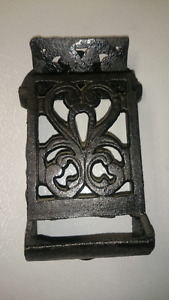 Antique Cast Iron Matchbox holders Match box
