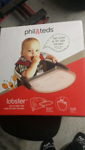Phil & teds lobster clip-on highchair