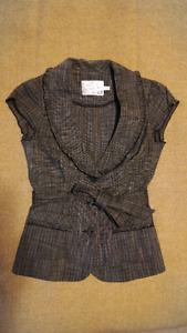Grey Short Sleeve Blazer Size XS