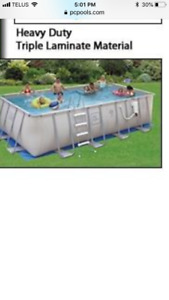 Free rectangle pool frame no liner