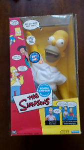 The Simpsons Plush Homer Simpson Talking Doll 2001 in box