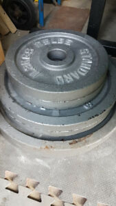 """210LBS of 2"""" Olympic Weight Plates"""