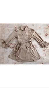 AUTHENTIC BURBERRY  GIRLS POLYESTER TRENCH COAT  SZ 8