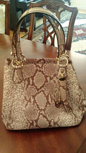 MICHAEL KORS Embossed Snakeskin Leather Bag (NEW)