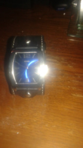 Men's GUESS watch leather band $30