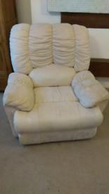 FREE !Cream Recliner Sofa