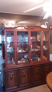 Walnut wood hutch