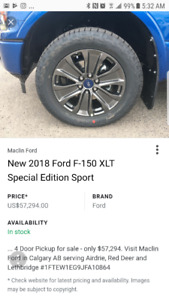 BRAND NEW TAKE OFFS 2018 FORD F150 RIMS & TIRES