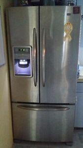 Stainless Steel Maytag French door fridge with ice maker