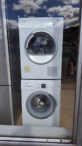 """Bosch  New  24"""" Washer & 24"""" Condensation Dryer Stackable 1199 $"""