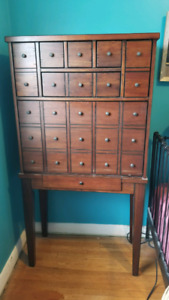 Apothecary style cabinet desk