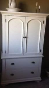 Brook Off-White Furniture Amoire/ Wardrobe