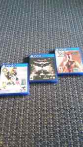 WWE 2K15, NHL 15, Batman Arkham Knight for the PS4
