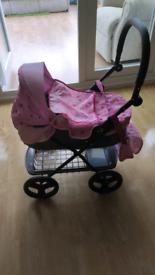 Mamas And Papas Kids Dolls Foldable Pram - Pink