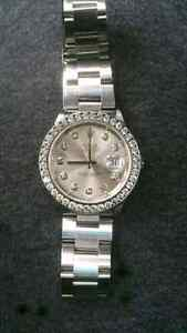 Rolex Datejust with diamond bezel and markers