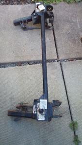 RV tow bar base plate