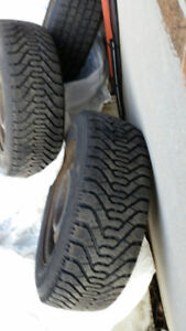 4 Winter Tires and Rims from 1998 Honda Civic Hatchback