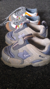 Baby shoes size 4 and 5. Nike size 5 fit small like a 4